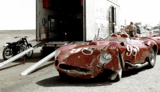 Maserati 450S wreck