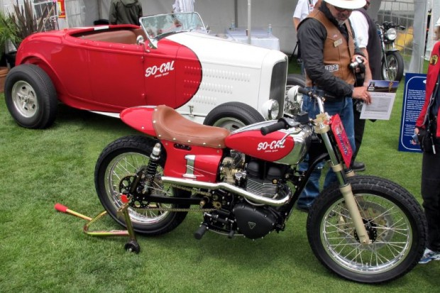 """SO-CAL Speed Shop states that its first 2-wheel creation - The """"Miler"""" - is a modernized fusion of function and nostalgia.  Add to that """"great looking."""""""