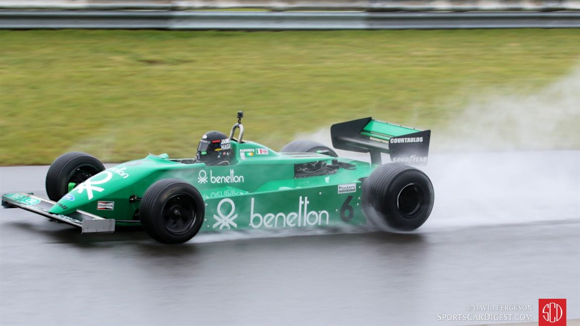 James Hagan in his 80 Tyrrell 011 was uncatchable in the rain.