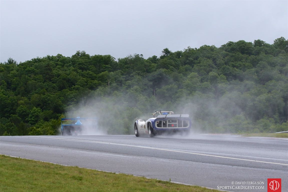 Can-Am cars in the rain.