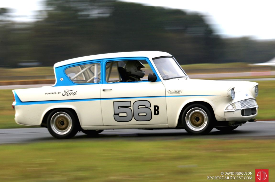 Ross Bremer raced this 1966 Ford Anglia 105 Super on this very airport in 1968