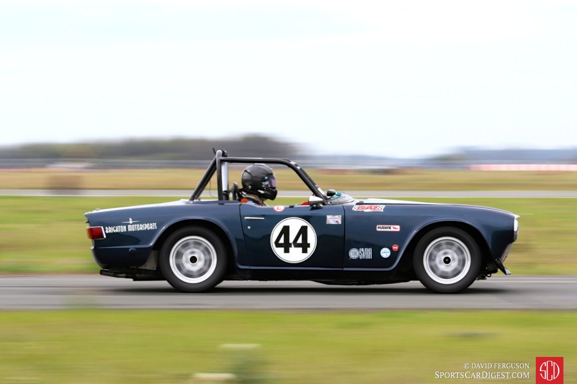 Jim Malone in the 1968 Triumph TR6