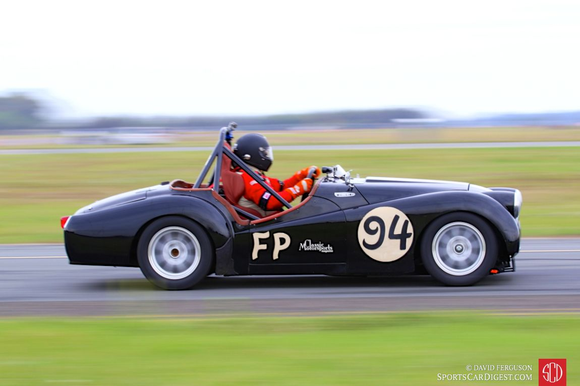 Tim Suddard behind the wheel of the 1957 Triumph TR3