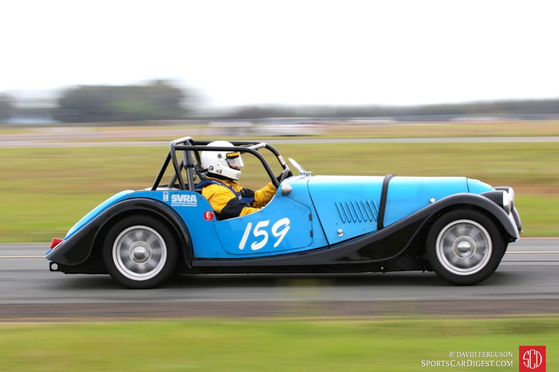 Peter Dunn piloting the 1963 Morgan 4/4
