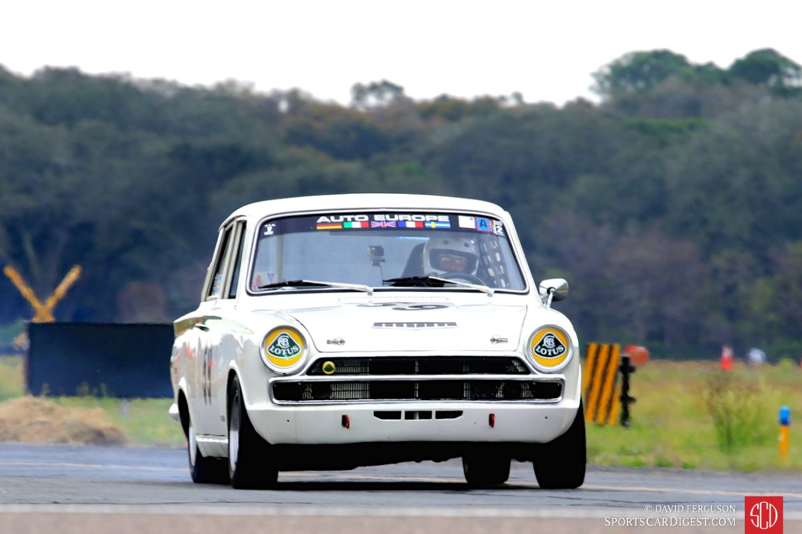 Don Heth behind the wheel of the 1966 Ford Lotus Cortina
