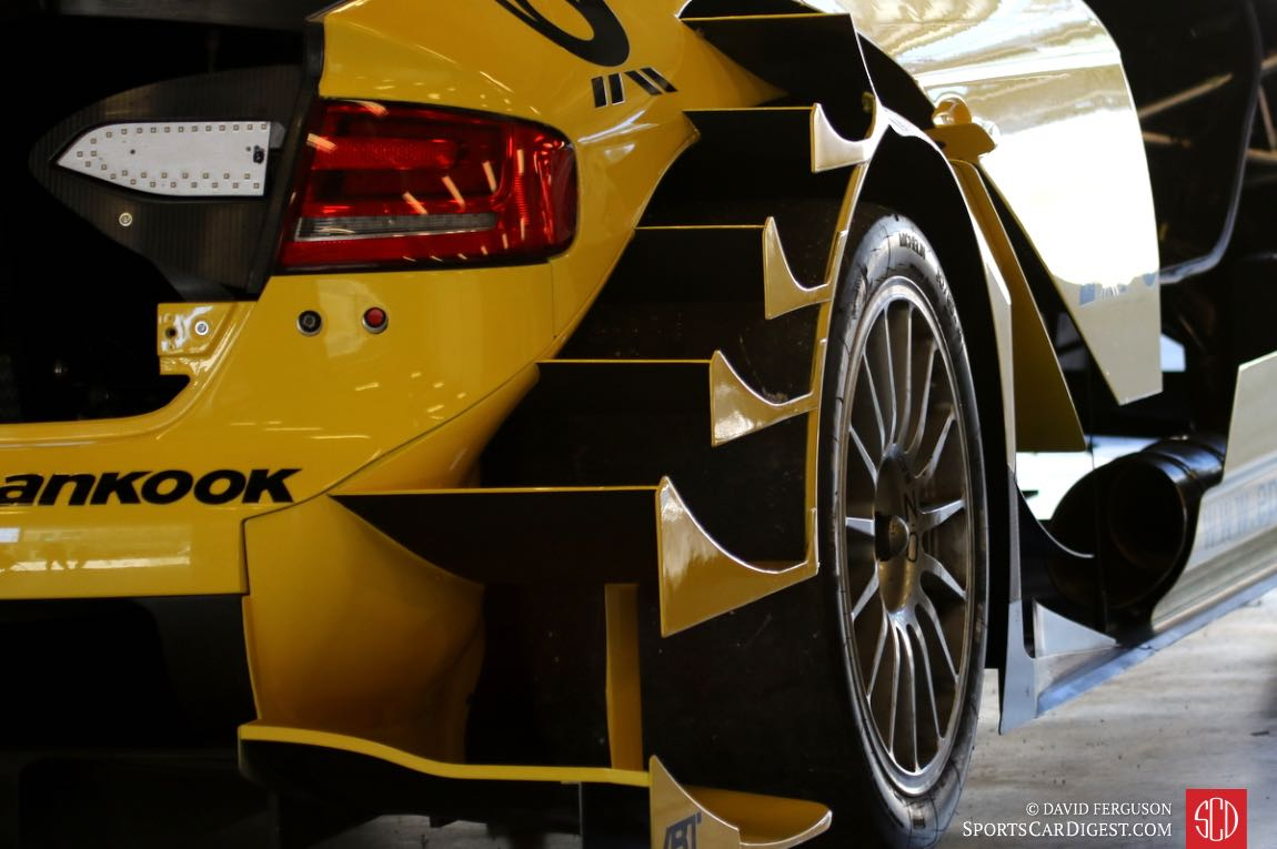Audi DTM's rear fender looks like a riverboat's paddle.