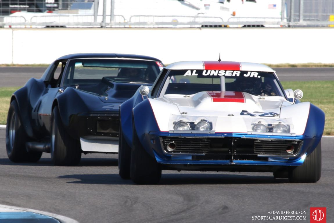 Rick Mooney, 68 Corvette ahead of Jofy O'Donnell, 69 Corvette.