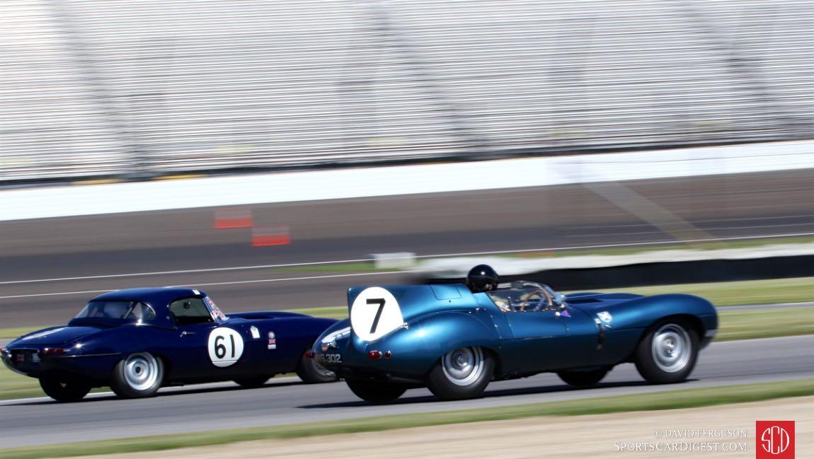 Two blue Jaguars.
