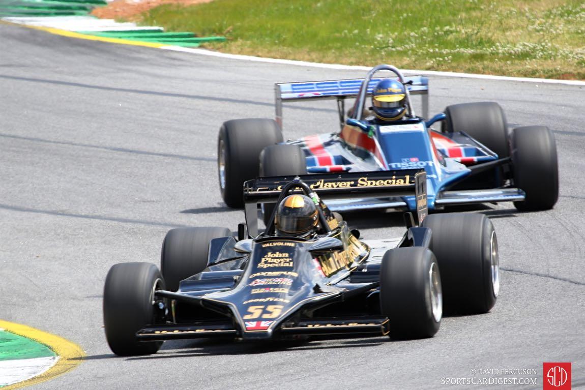 Two Lotus F-1 cars.