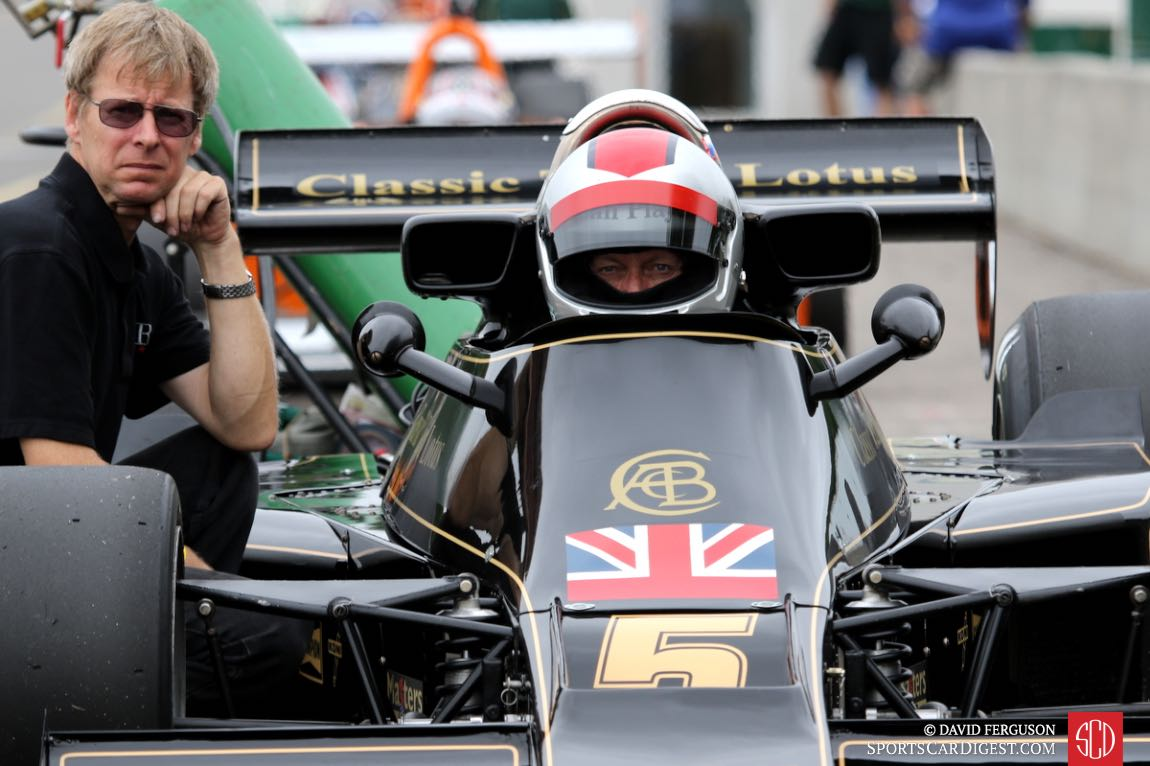 Gregory Thornton waiting to go out in his 76 Lotus 77.