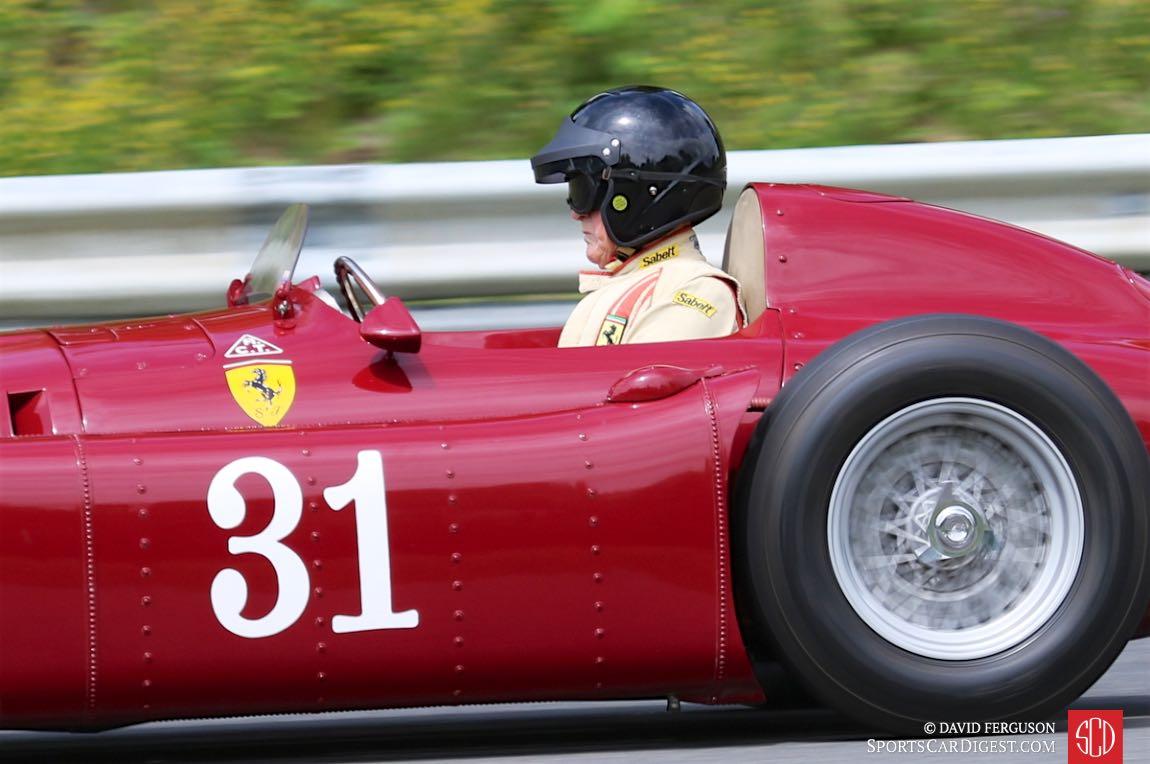 Peter Giddings in his Lancia D50.