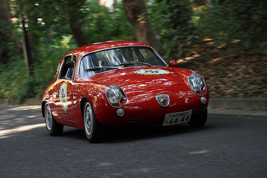 1959 Fiat Abarth 750 Record Monza, Departure, La Festa Mille Miglia 2013