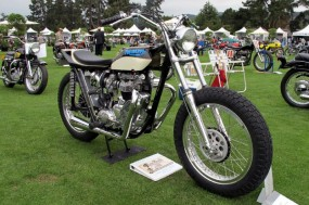 Out amongst individual entrants again, this is motorcycle restorer Ron Peck's street-tracker that's custom built from a 1966 Triumph.
