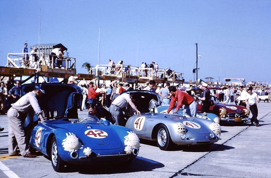 Factory Porsche 550 Spyder at 1956 12 Hours of Sebring