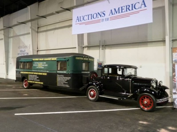 1931 Ford Model A Deluxe Coupe and Fishing Gear Trailer
