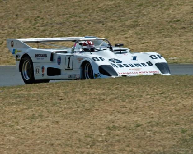 Group 9 Winner Bert W. Skidmore driving his 1976 Lola T296