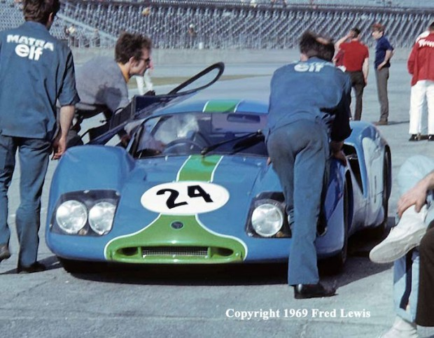 <strong>French Matra-Sports 630M was driven by Henri Pescorolo and Johnny Servoz-Gavin.   Pescorolo wrecked the car in night practice and that ended Matra's attempt to win the 24 Hours of Daytona.</strong>  (Photo credit: www.fredlewisphotos.com)