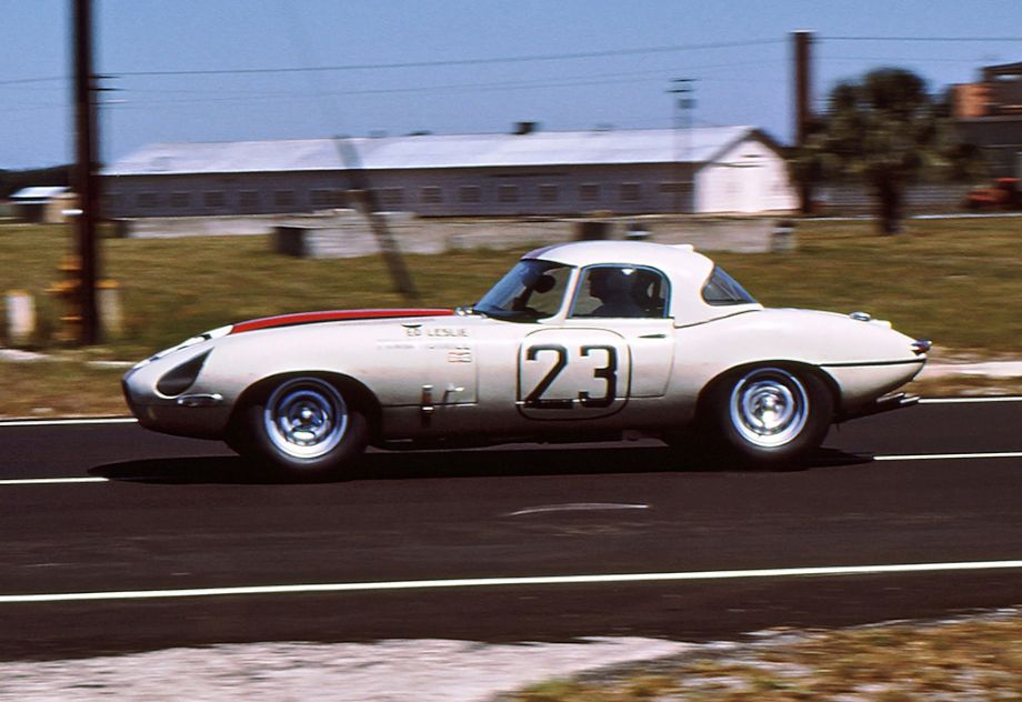 Ed Leslie and Frank Morrill drove this Jaguar E-Type Lightweight