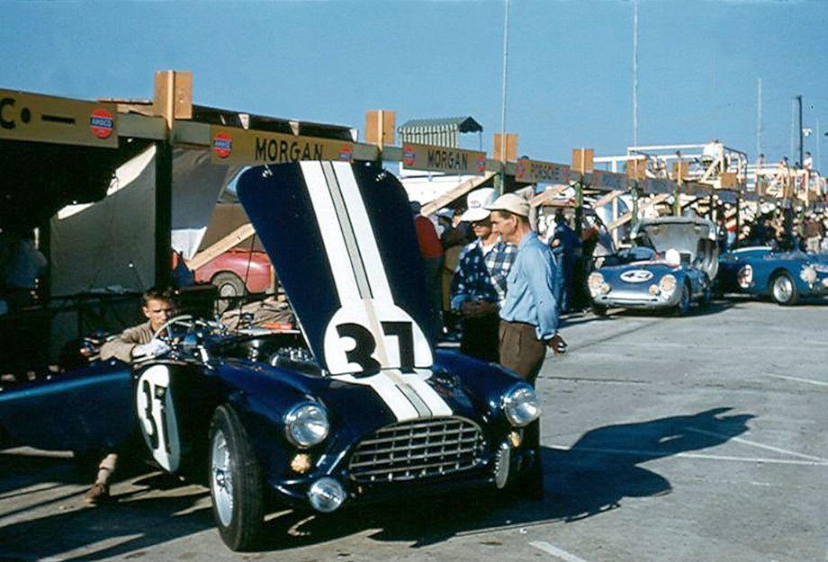 AC Ace Bristol at 1956 Sebring 12 Hours endurance race