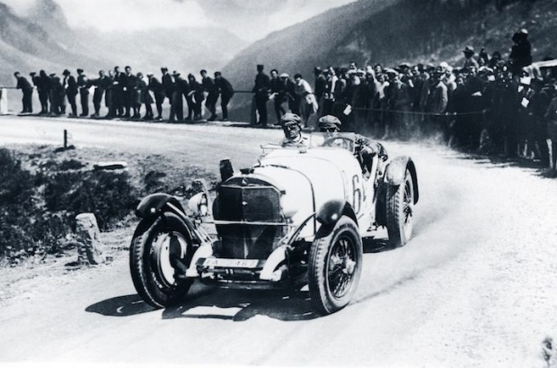 Rudolf Caracciola and the SSK taking victory in the sports car contest during the Klausen Race in 1930.