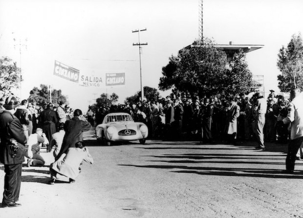 The 1952 Carrera Panamericana-winning team Karl Kling and Hans Klenk.