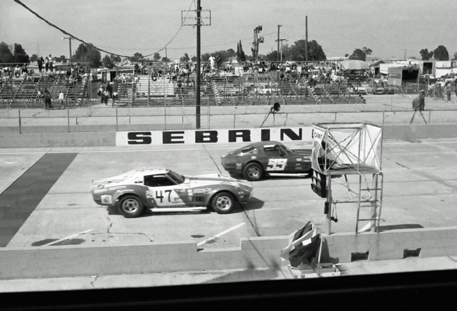 IMSA's Camel GT series drew a lot of Corvettes to Sebring in 1973
