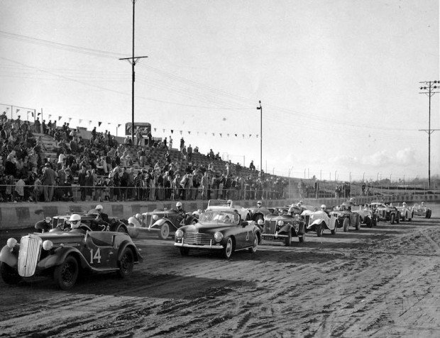All MG race at Carrell Speedway in 1949