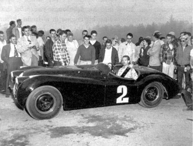 Phil's first major win was in his own XK120 Jaguar at the first Pebble Beach event held on November 4, 1950.