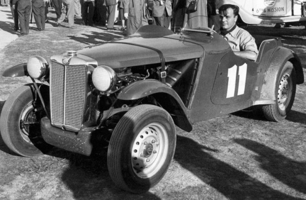 John Von Neumann in his supercharged MG Special. (Photo: Qvale Collection)
