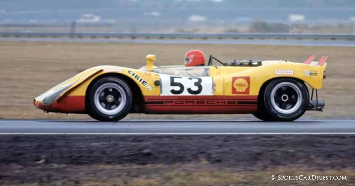 Porsche 908/02 of Hans Laine and Gijs van Lennep retired after 385 laps. Their sister 908/02 failed to make even one lap. (Fred Lewis photo)