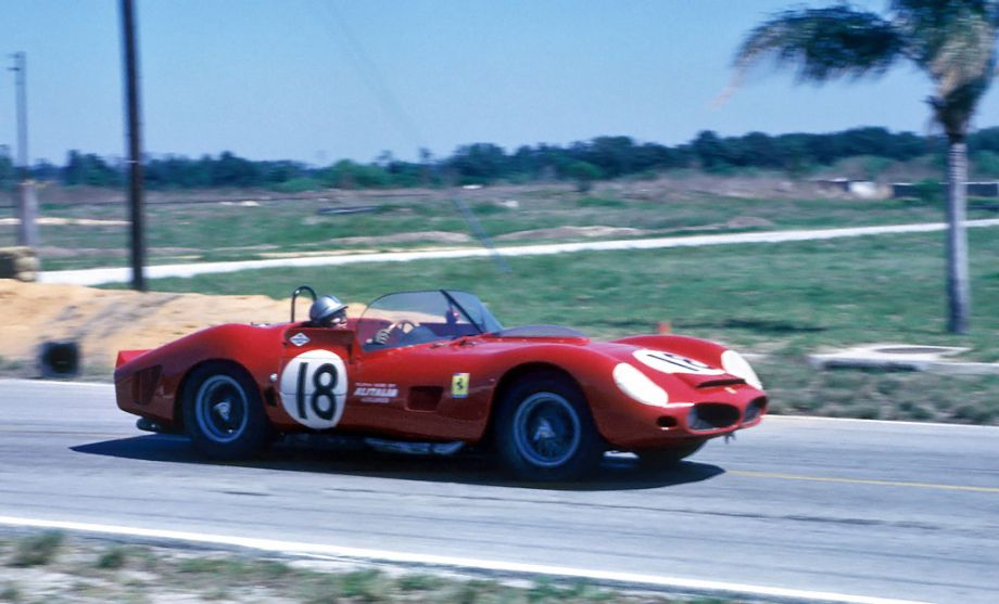 Pedro Rodriguez in the NART Ferrari 330 TRI/LM