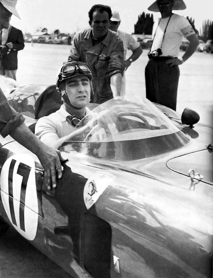 Eugenio Castellotti Ferrari 860 Monza 1956 Sebring 12 Hours