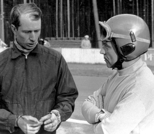 John Fitch and Pierre Levegh. (photo credit: Daimler-Benz archive)