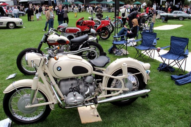 The Quail's sports and racing motorcycles included this 1966 BMW R69/S - Gary Wasserman.  Photo William Edgar