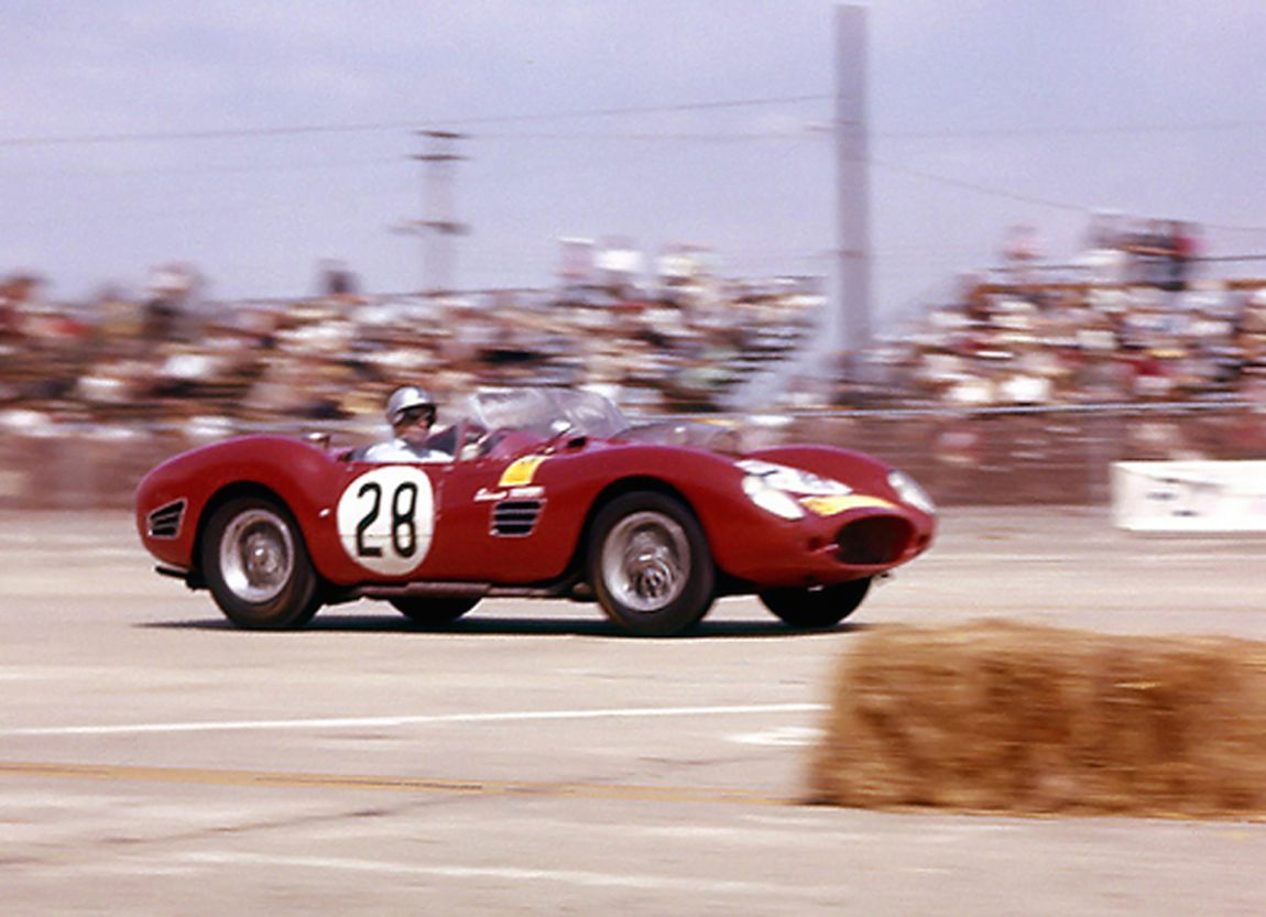 Pedro Rodroguez and younger brother Ricardo would team up for the first time at Sebring driving a NART Ferrari Dino 196 S.  A bad clutch forced them to retire at lap 126.  BARC boys photo.