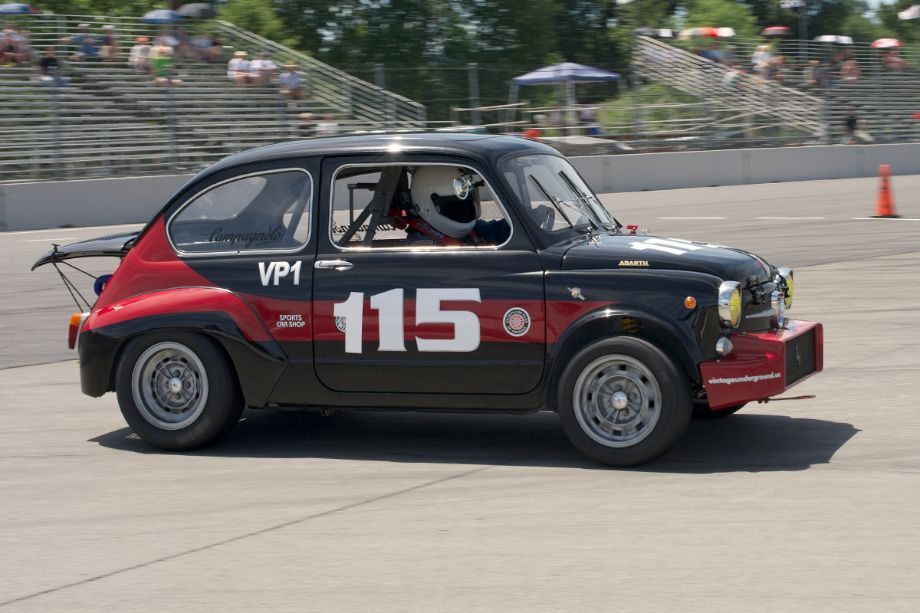 1967 Fiat Abarth driven by Joseph Potter in one.