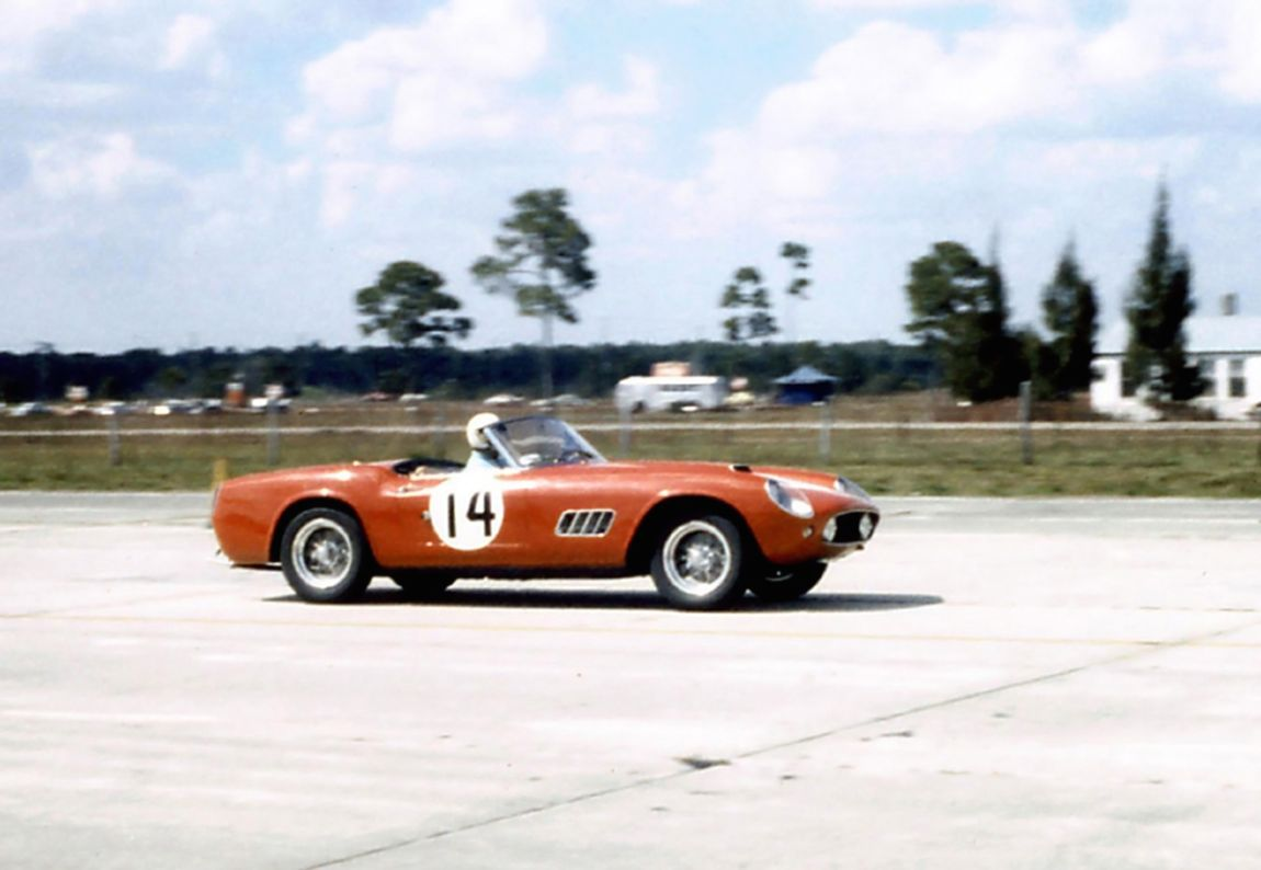 Robert Publicker, George Constantine and Dean McCarthy finished 10th overall in this Ferrari 250 GT California LWB Spider.  BARC boys photo.