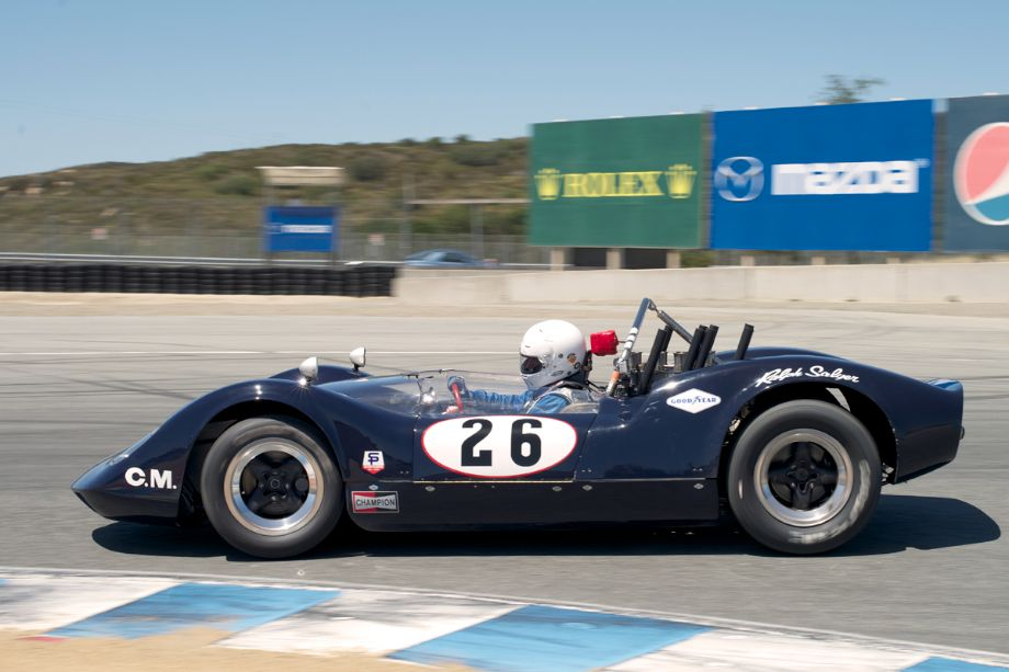 Edie Arrowsmith's 1965 McLaren M1A in eleven Sunday.