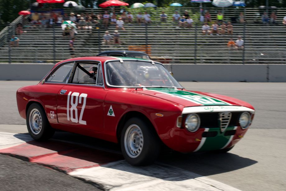 Brian Mertz in his 1967 Alfa Romeo Giulia Sprint Gt in one.