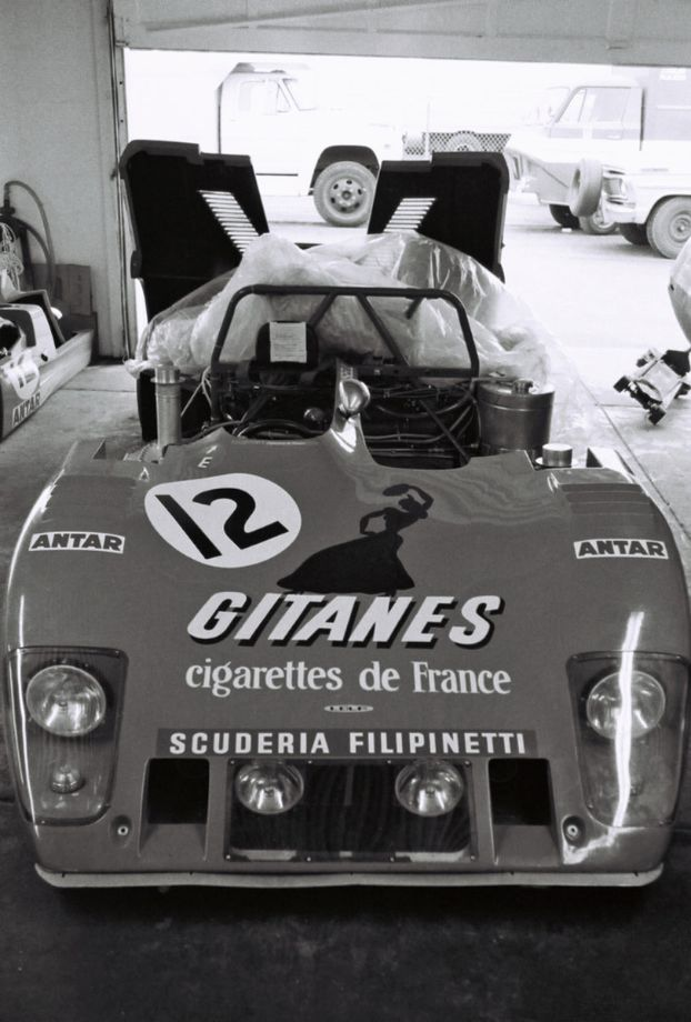 In the garages prior to the start of the race is the Ford Cosworth Lola T282 of Reine Wisell, Jean-Louise Lafosse and Hughes de Fierlant.  Like many of the other prototypes they were a DNF.  Louis Galanos photo.