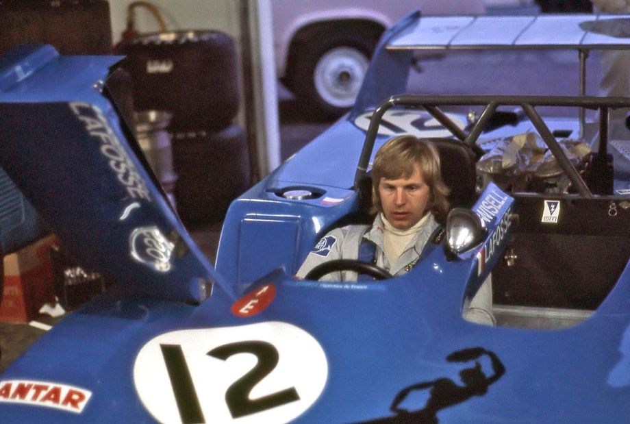 Reine Wisell taking time to get accustomed to the Lola T282 he would drive in the Daytona 24.  He and his co-drivers were told to take it easy in practice and qualifying because they didn't have a spare engine.  Richard A. Reeves photo.