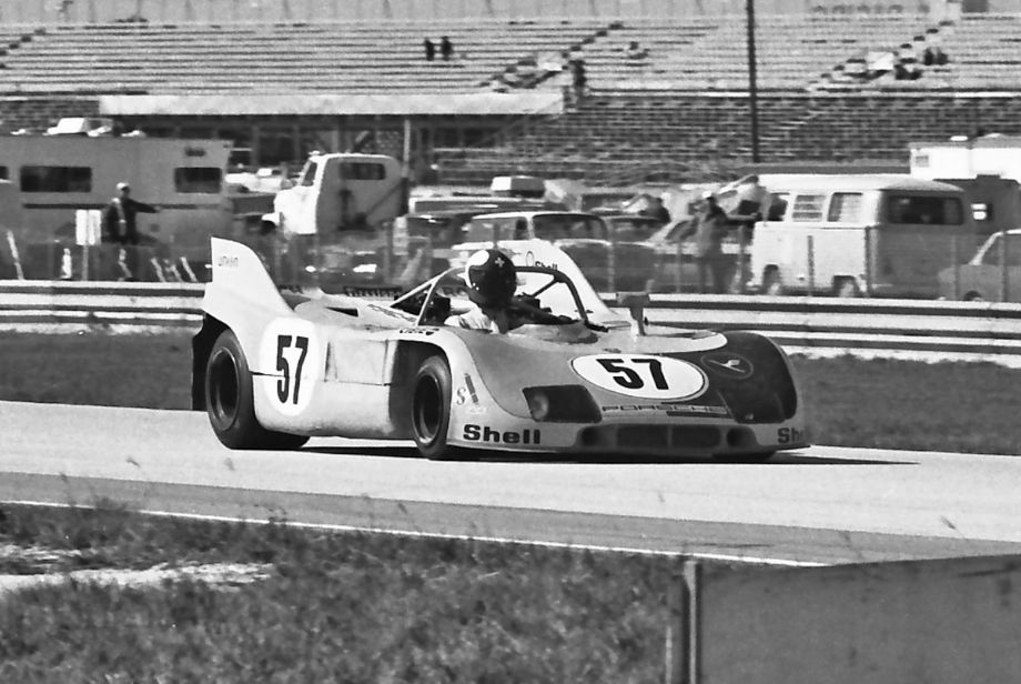 Swiss driver Paul Blancpain in the Joest Racing Porsche 908/03.  Race stewards ordered an extension be welded onto the top of the roll bar to accommodate Blancpain (see next photo). Louis Galanos photo.