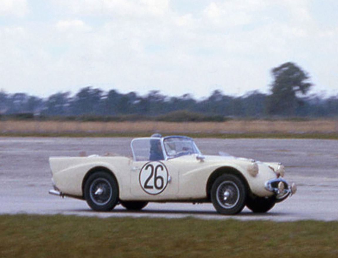 The Duncan Black - Charlemagne Tower Daimler SP250 that finished 34th overall.  BARC boys photo.