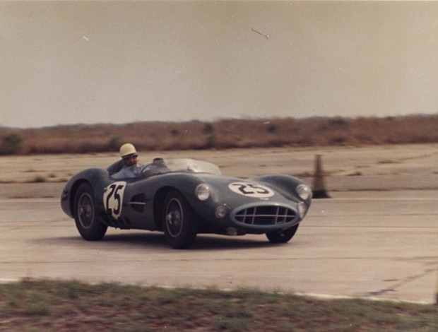 Roy Salvadori in the Aston he shared with Shelby was third in the early stages.