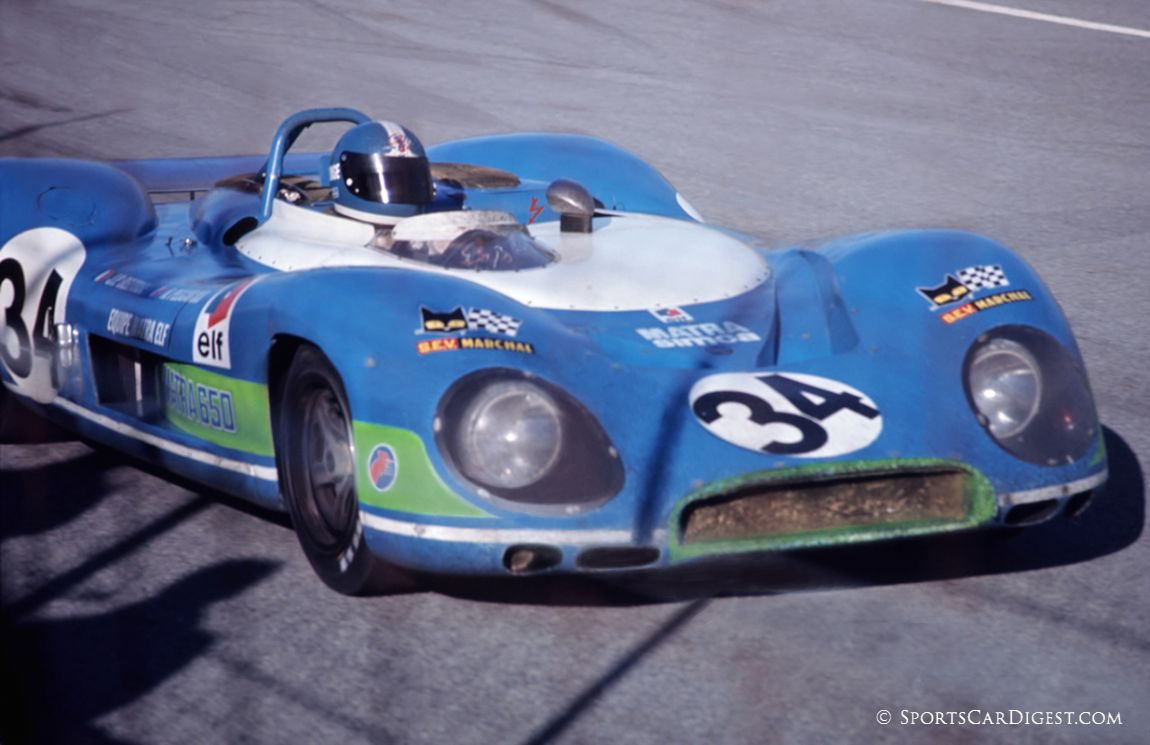 Both Matra team cars were suffering from broken rotor arms with mechanics replacing them eight times. (Fred Lewis photo)