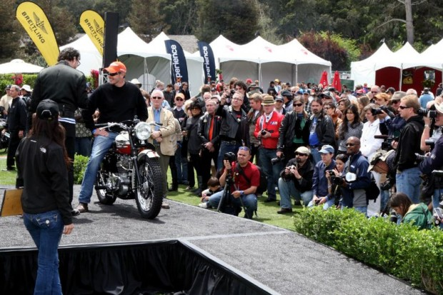 Robert Jordan's class winning 1957 Triumph TR6 was restored by Jonnie Green.  The judged classes at The Quail proved to be enjoyed by all.
