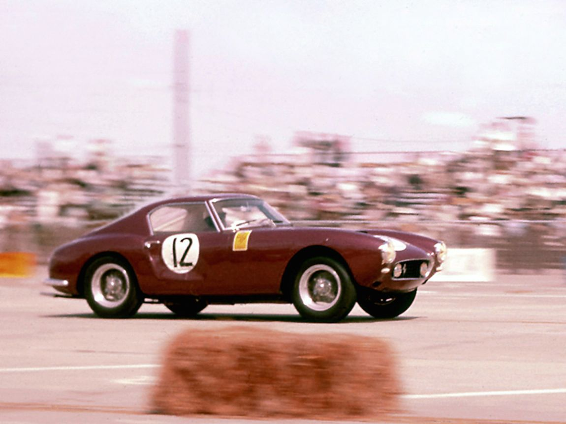 Bill Sturgis and Fritz D'Orey finished 6th overall in their Ferrari 250 GT SWB.  BARC boys photo.