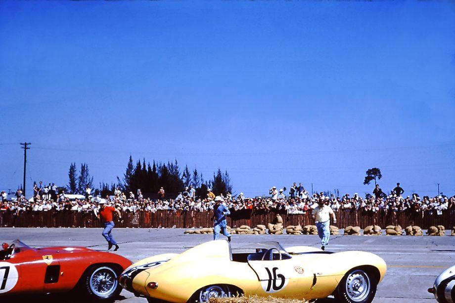 Le Mans start at the 1956 Sebring 12 Hours