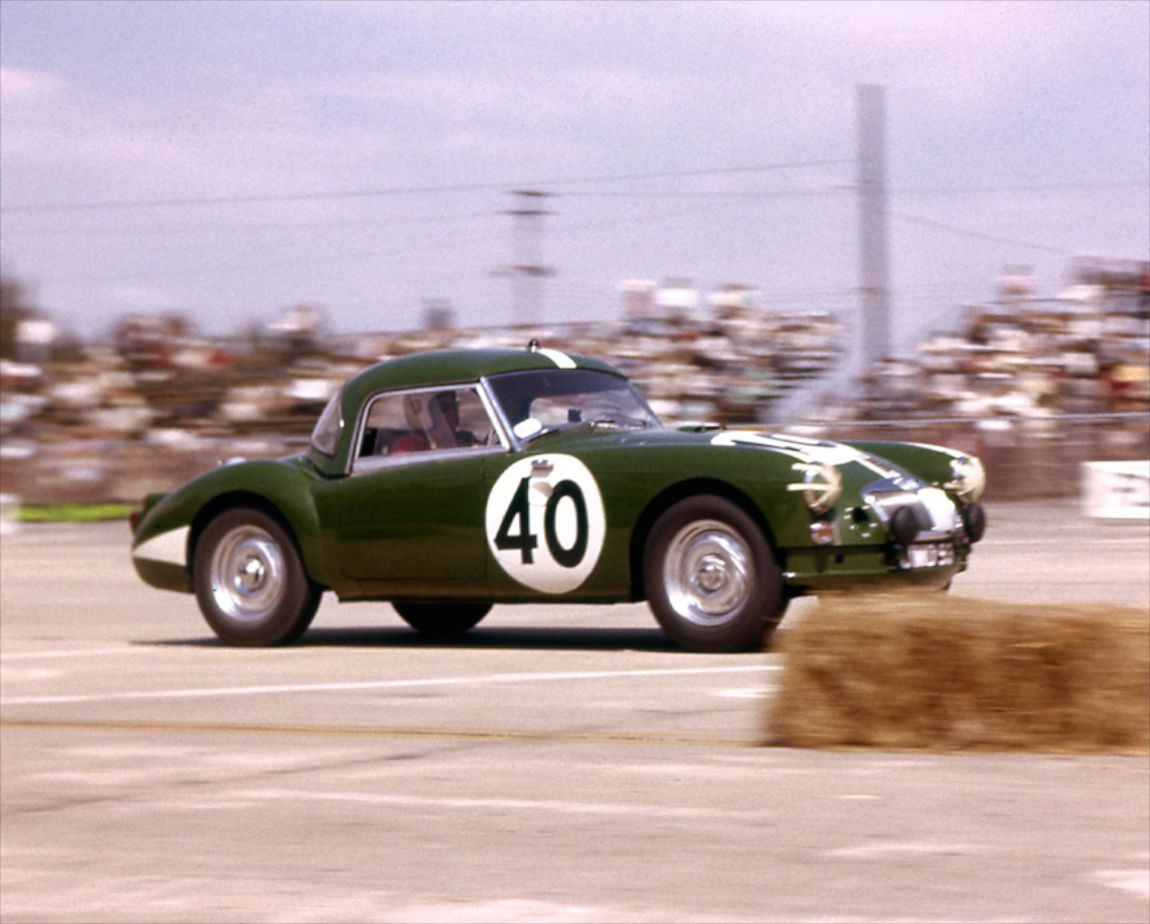 The MG A Twin Cam of Jack Flaherty and Jim Parkinson finished 29th overall.  BARC boys photo.