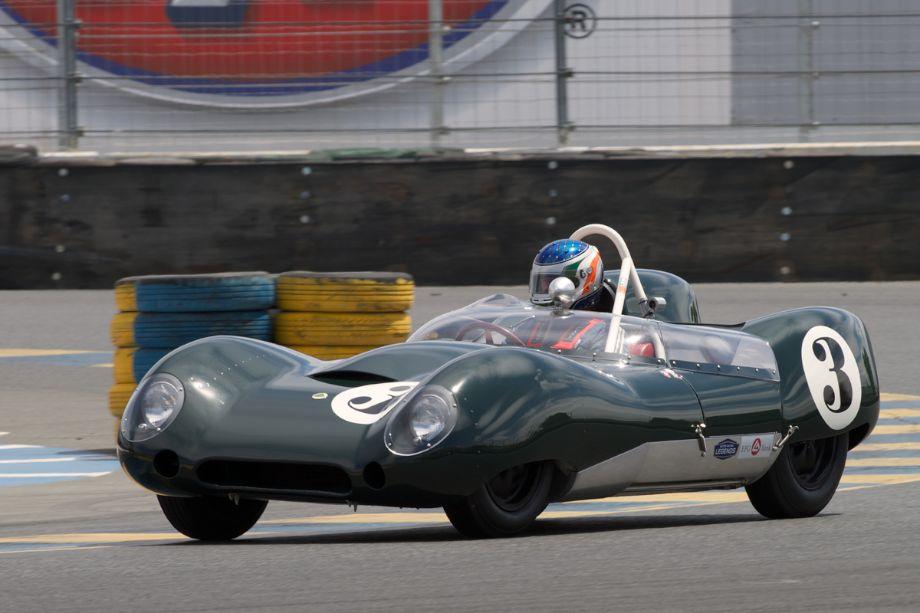Michael Malone in his Lotus Mk.15 in eleven.